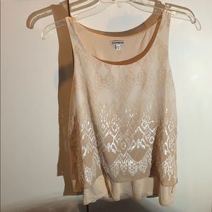 Cute sparkle sleeveless top. Good for work/casual